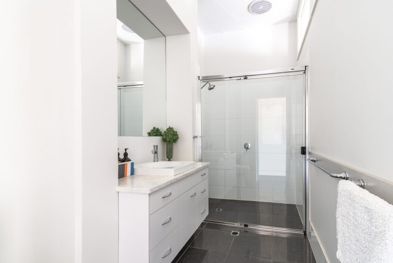 New spacious upper bathroom and toilet
